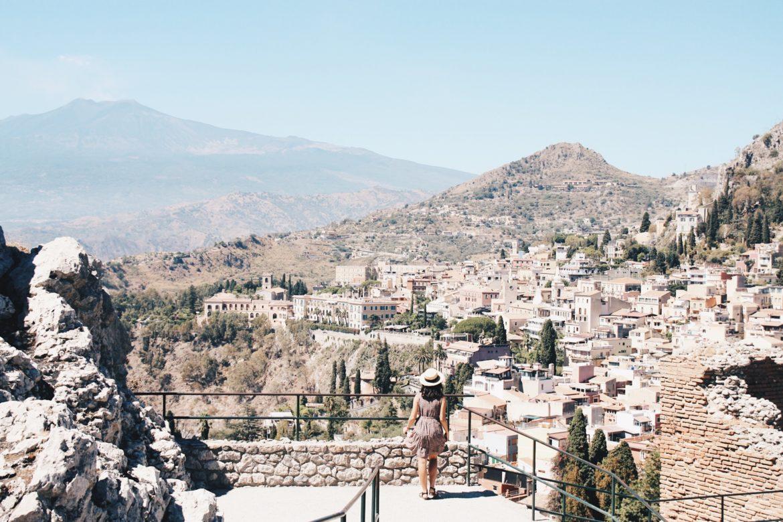 Taormina desde el teatro, Sicilia