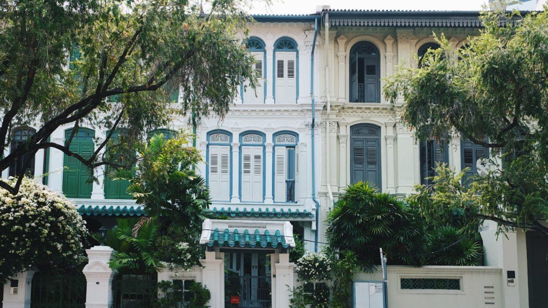 Singapur Shophouses en Emerald Hill